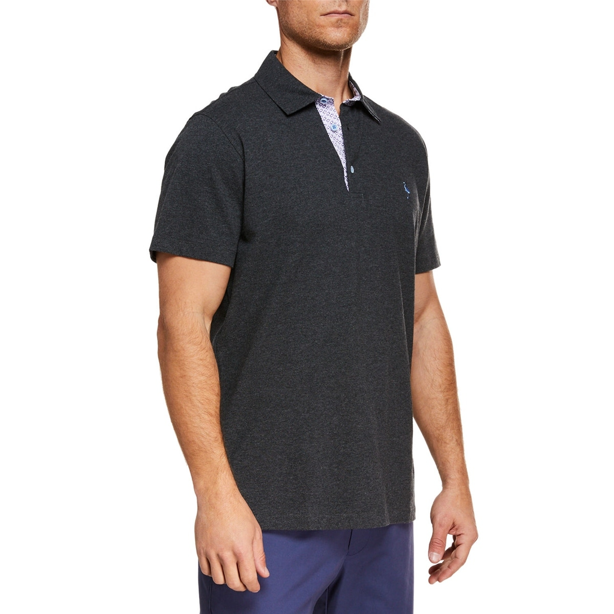 M Heather Grey TailorByrd Mens Polo