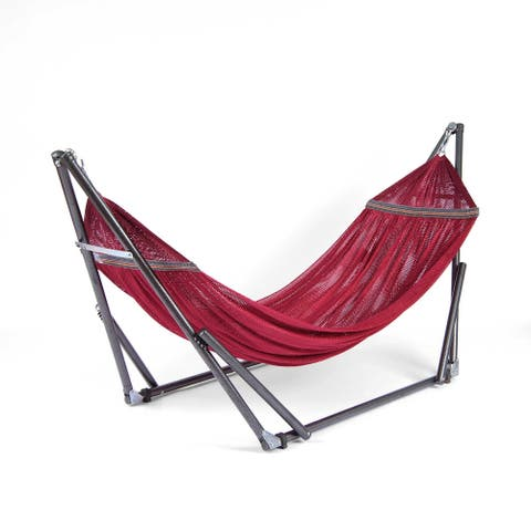 Aurora Home EZ Daze Hammock with Stand-RED