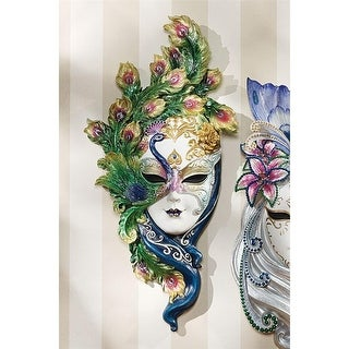 Design Toscano Mask of Venice Wall Sculpture: Peacock Mask