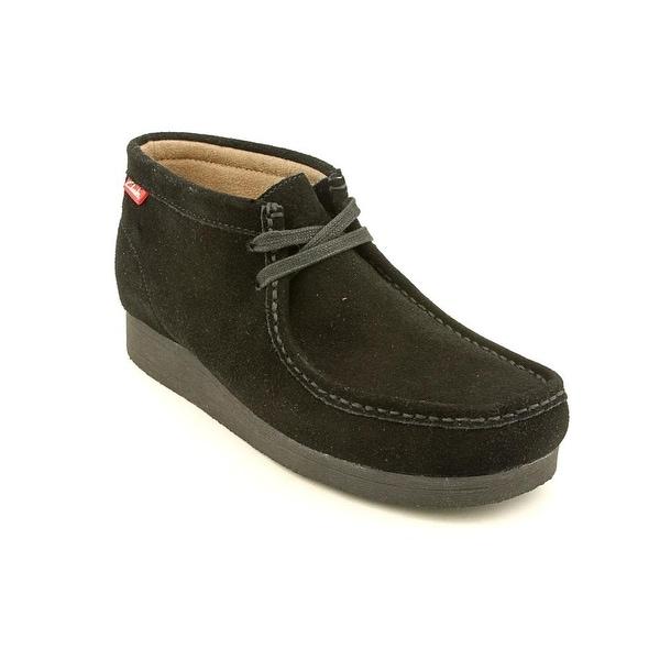 Clarks Stinson Hi Men  Moc Toe Suede Black Chukka Boot