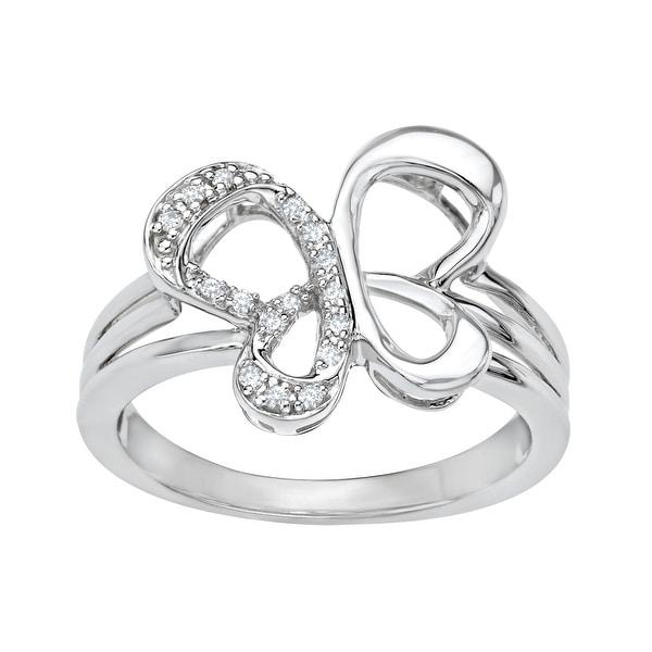 Jessica Simpson Diamond Butterfly Ring