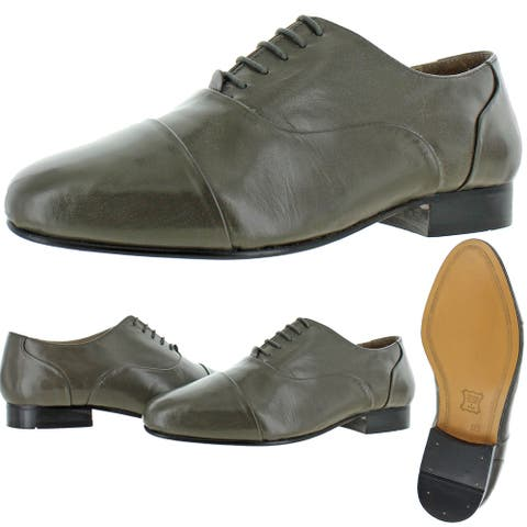 Giorgio Brutini Mens Cortland Oxfords Leather Cap Toe - Gray