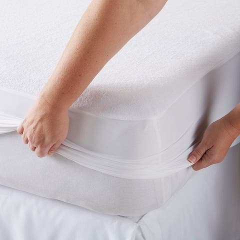 Great Bay Home Waterproof Mattress Protector - White