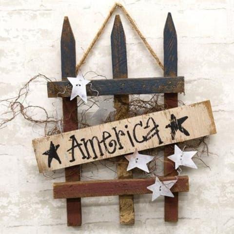 America Gate Wood Hanger
