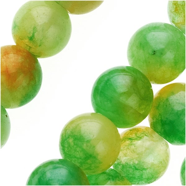 Dark Green Watermelon Jade 8mm Round Beads / 15 Inch