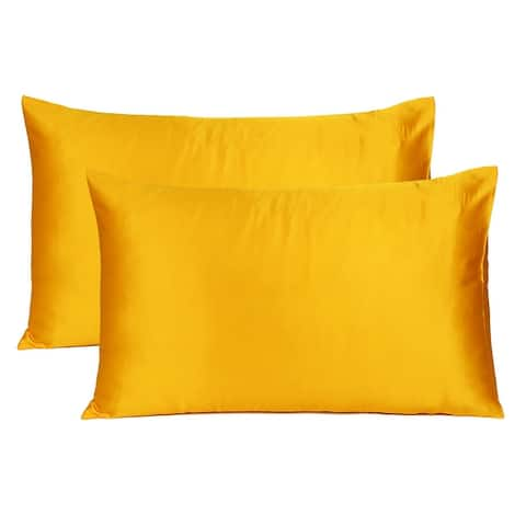 Oussum Pure Silk Satin Pillowcase Ultra Soft 2-piece Pillow Cover for Hair and Skin