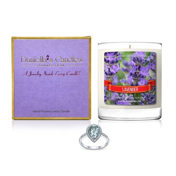 Daniella's Candles Lavender Jewelry Candle, Earrings