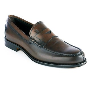 Tod's Men's Leather Loafer Shoes Brown