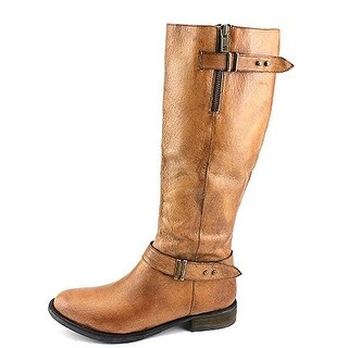 Steve Madden Womens Alyy Wide Calf Leather Riding Boots