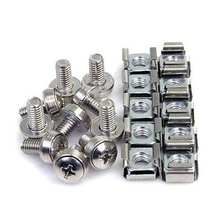 Startech 50 Pkg M6 Mounting Screws And Cage Nuts For Server Rack Cabinet