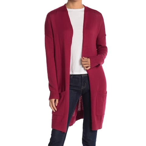 ABOUND Open-Front Collarless Women's Cardigan Sweater