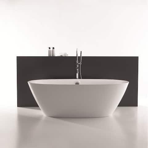 Empava 71 in Acrylic Freestanding Bathtub Large Deep Soaking SPA Tubs
