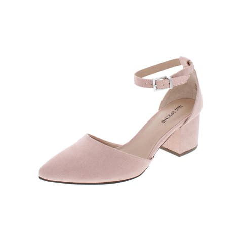 Call It Spring Womens Aiven Pumps Solid Faux Suede