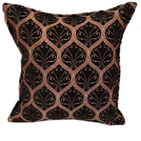 Trellis Myrtus Chenille Decorative Contemporary Turkish Pillow