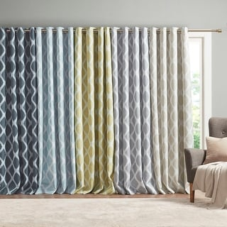 Link to Kagen Printed Ikat Blackout Panel by SunSmart Similar Items in Curtains & Drapes