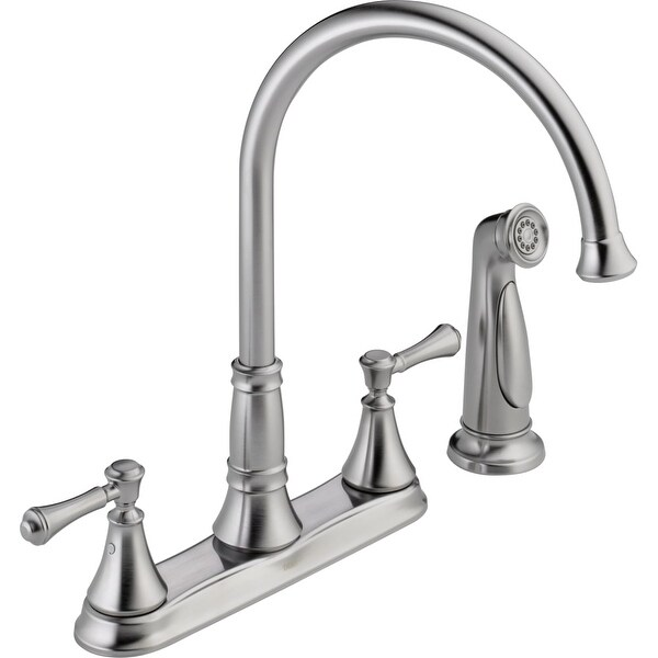 Delta 2497lf Cidy Kitchen Faucet With Side Spray Includes Lifetime Warranty