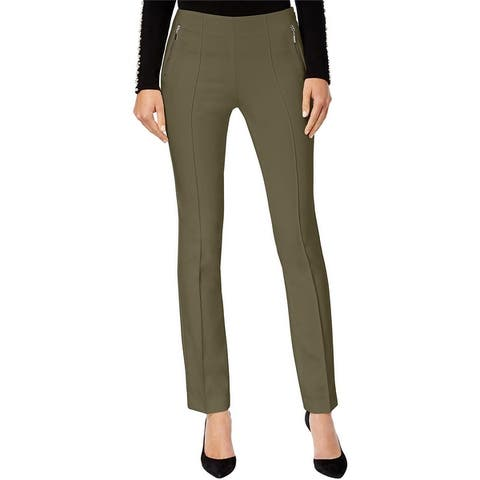 I-N-C Womens Curvy-Fit Casual Trouser Pants