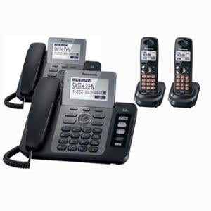 Panasonic KX-TG9471B 2-Line Corded/Cordless Phone with Digital Answering System and Contact Sync with 1 Handset (Refurbished)