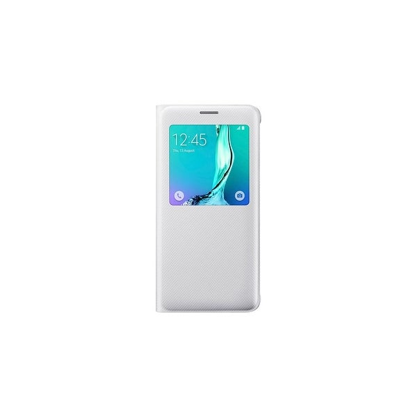 Samsung S-View Flip Cover for Samsung Galaxy S6 Edgeplus - White S-View Flip Cover