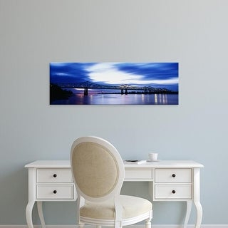 Easy Art Prints Panoramic Images's 'Bridge across a river, Mississippi River, Natchez, Mississippi, USA' Canvas Art