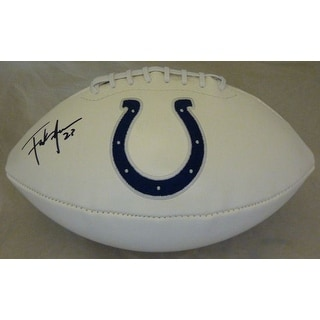Frank Gore Autographed Indianapolis Colts Logo Football JSA