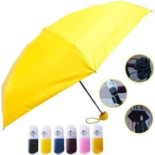 Travella Lightweight Umbrella Weatherproof No Drip Nano Coated UV Protection, Yellow