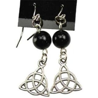 Black Onyx Triquetra earrings