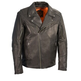 Men's Lightweight Triple Stitch Extra Long Beltless Biker Jacket
