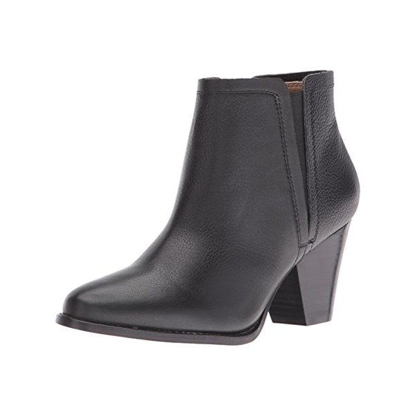Splendid Womens Rochelle Ankle Boots Leather Stacked