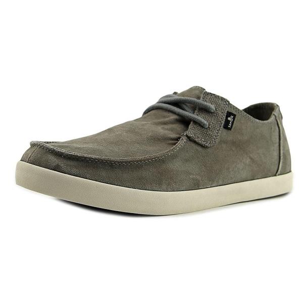 Sanuk Nu-Nami Men Moc Toe Canvas Gray Loafer