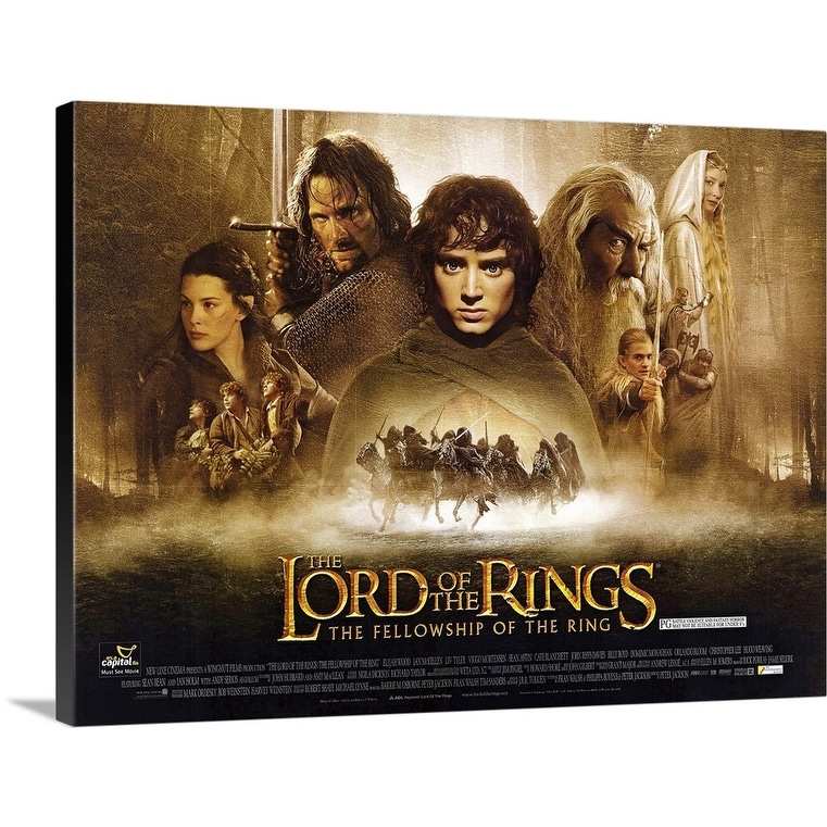 Shop Lord Of The Rings The Fellowship Of The Ring 2001 Canvas Wall Art Overstock 24130619