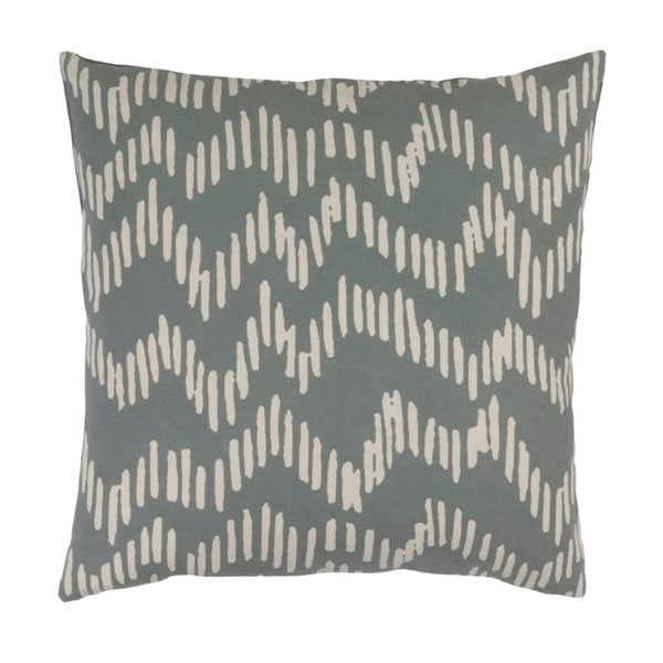 "18"" Broken Lines Rhinoceros Gray and Khaki Brown Decorative Throw Pillow"