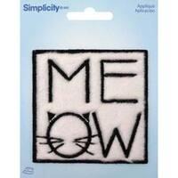 Meow - Wrights Iron-On Applique