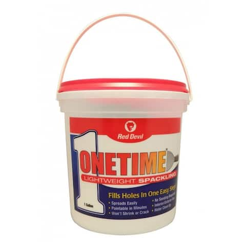 Red Devil 0541 Onetime Lightweight Spackling, Pre-Mixed Formula, 1 Gallon