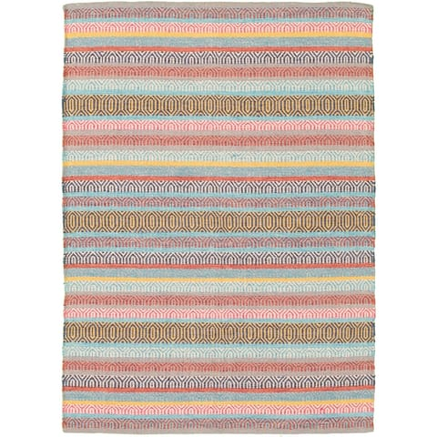 ECARPETGALLERY Flat-weave Bold and Colorful Multi Color Wool Kilim - 3'11 x 5'7
