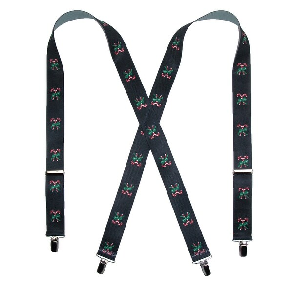 CTM® Elastic Candy Cane Christmas Holiday Clip End Suspender