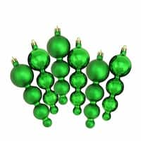 Shiny and Matte Xmas Green Finial Shatterproof Christmas Ornaments