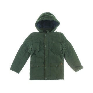 French Connection Boys Quilted Hooded Coat