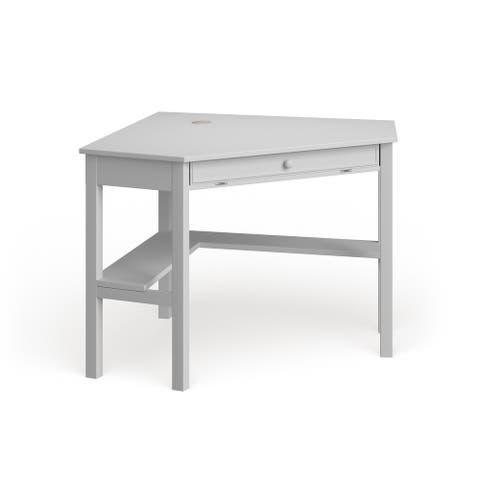 Porch & Den Crescent White Birch Corner Desk