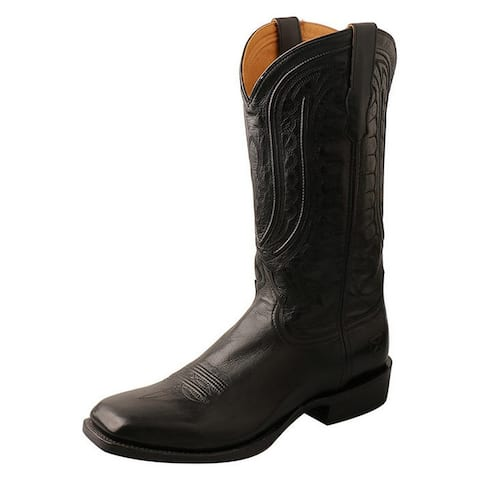 Twisted X Western Boots Mens Rancher WS Toe Goat Black