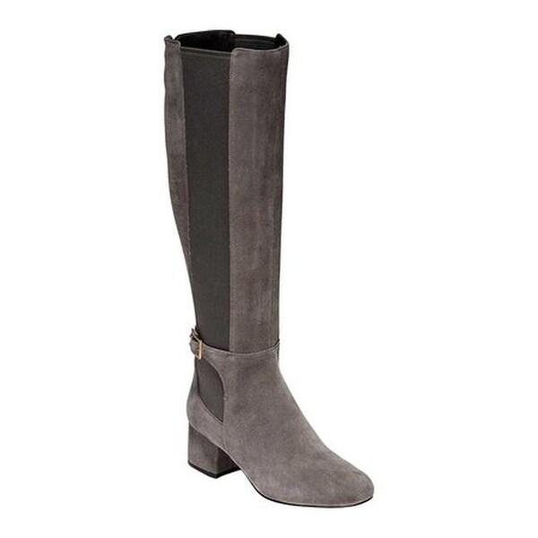 e047ec3a8d8 Shop Cole Haan Women s Avani Stretch Tall Boot Stormcloud Suede ...