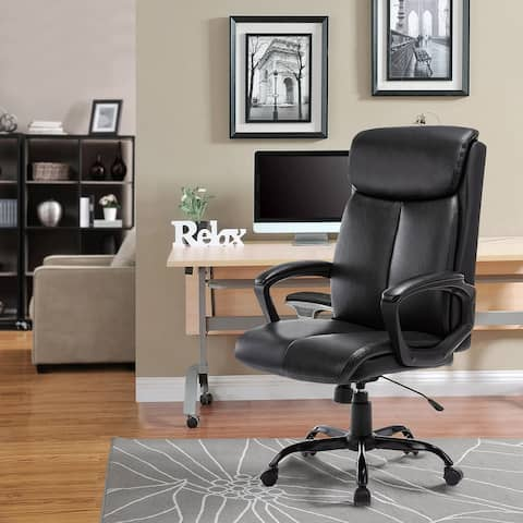 High Back Executive Bonded Leather Swivel Task Chair