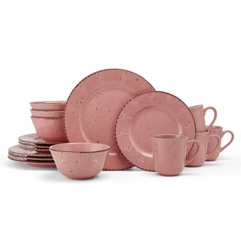 Pfaltzgraff Pink Flamingo 16 pc Dinnerware Set (Service for 4)