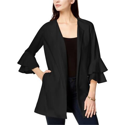 Kensie Womens Bell Sleeve Ponte Jacket