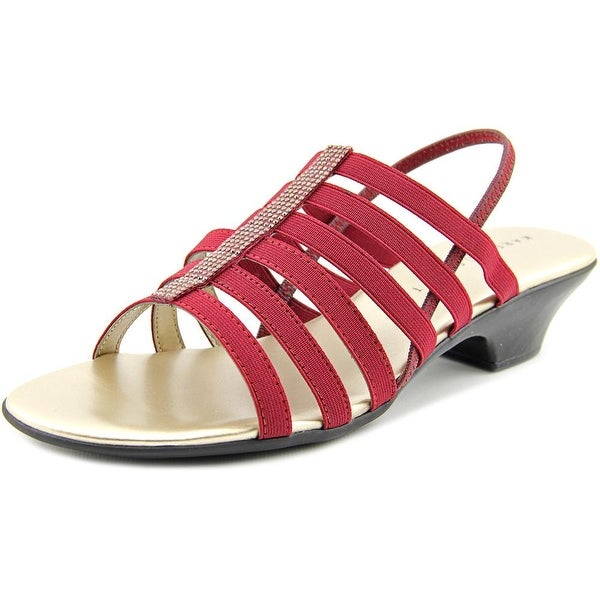 Karen Scott Estevee Women Open-Toe Canvas Red Slingback Sandal