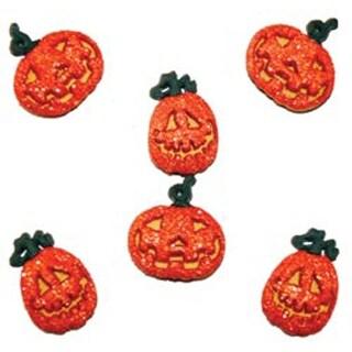 Glitter Pumpkins - Dress It Up Holiday Embellishments