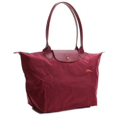 LongChamp Womens Larger Shoulder Tote Grenat Handbag