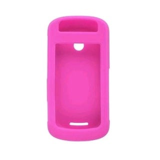 Silicone Gel Case for Motorola W835 Crush, Hot Pink