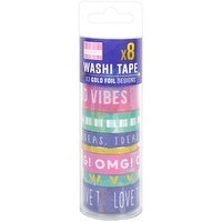 Watercolour - First Edition Washi Tape 10M Rolls 8/Pkg