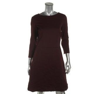 Theory Womens Kamillina K Wear to Work Dress Lattice Bateau Neck - 10
